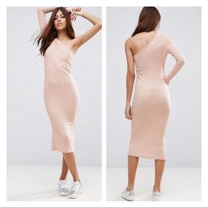 ASOS midi one shoulder dress